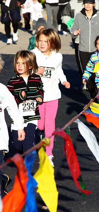 Girls finish race