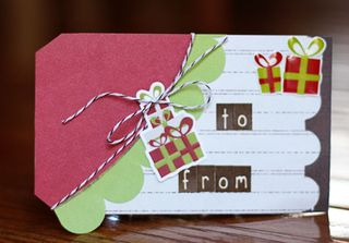 Christmas tag to and from