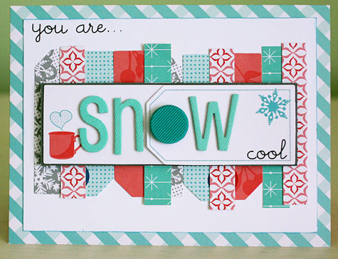 Snow cool card