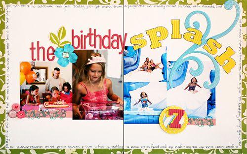 The birthday splash Memory Makers