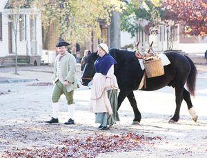 People horse williamsburg