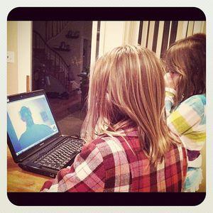 Girls skype