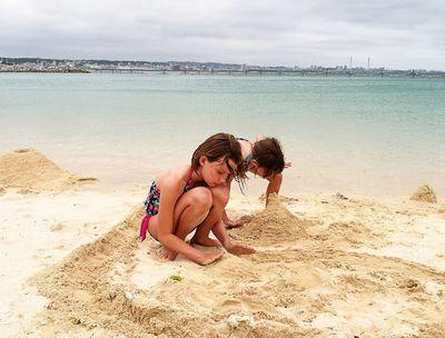 Girls okinawa beach