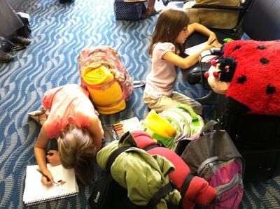 Girls airport